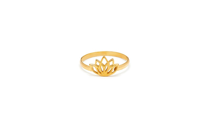 Lotus Flower Gold Ring