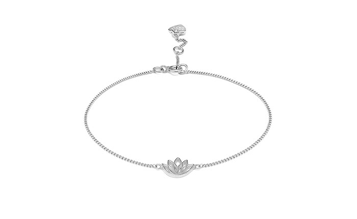 Lotus Flower Silver Bracelet