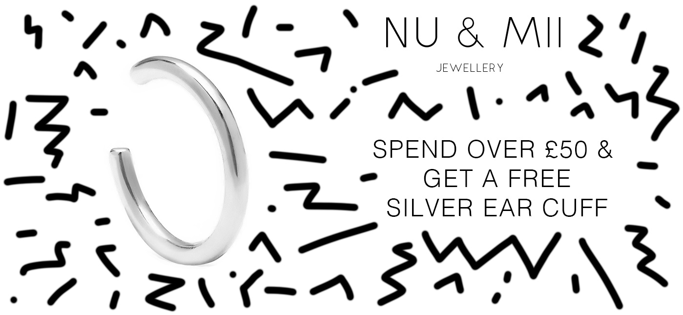 Spend over £50 and get a free silver ear cuff