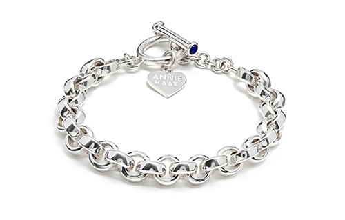 Solid Chain Link Silver Bracelet