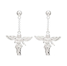 MY GUARDIAN ANGEL EARRINGS - SILVER