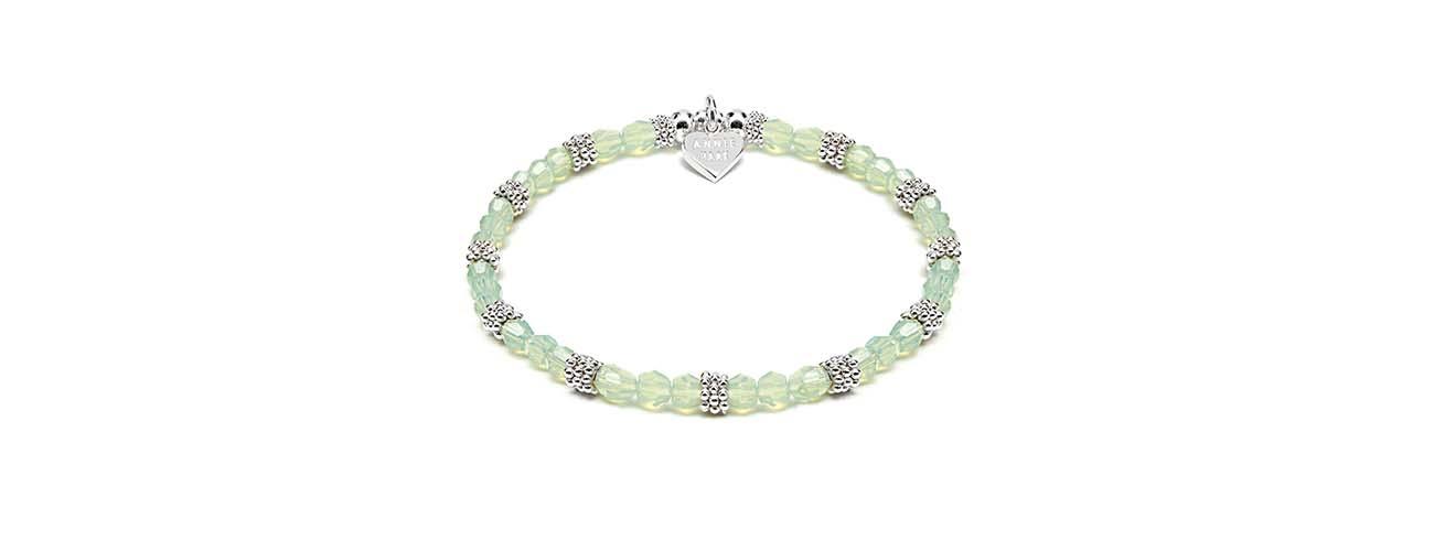 Swarovski Sparkle Silver Bracelet Easter Green