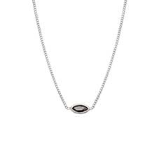 MARQUISE SILVER NECKLACE - HEMATITE