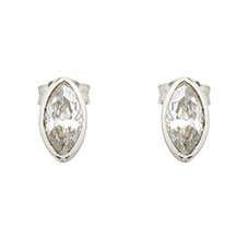 MARQUISE SILVER EARRINGS - CLEAR CRYSTAL