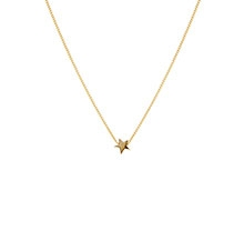 TINY BOXED STAR GOLD NECKLACE