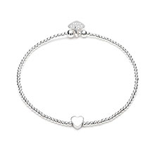 DAINTY BOXED HEART BRACELET - SINGLE HEART