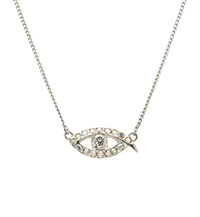 EVIL EYE PROTECTION SILVER NECKLACE