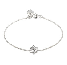 LIMITED EDITION STARLET SILVER CRYSTAL STAR BRACELET