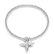 SANTEENIE SILVER CHARM BRACELET - MY GUARDIAN ANGEL